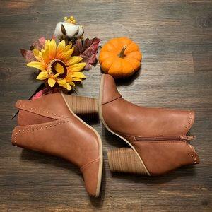 Lauren Conrad Brown Beaded Boots